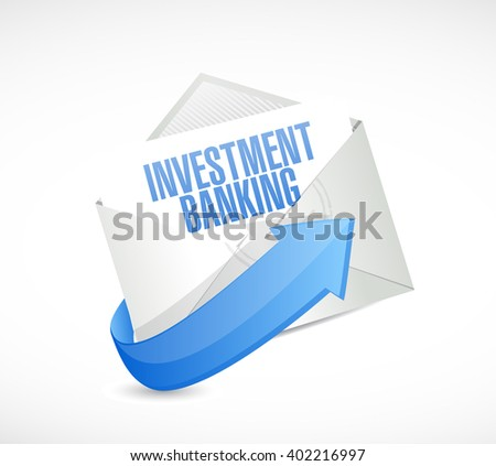 investment banking mail sign concept illustration design graphic - stock photo