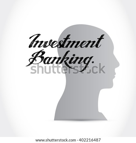 investment banking people sign concept illustration design graphic - stock photo