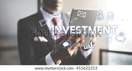 Investment Business Economy FInancial Revenue Concept - stock photo