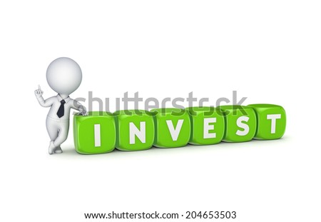 Investment concept.Isolated on white.3d rendered. - stock photo