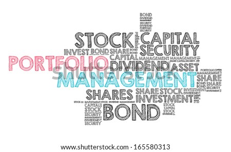Investment concept - Portfolio Management - stock photo