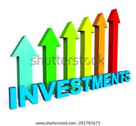 Investment Increasing Showing Financial Report And Progress - stock photo