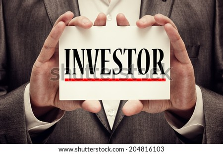 Investor. Business concept - stock photo