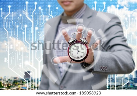Investor give more time for finish work concept - stock photo