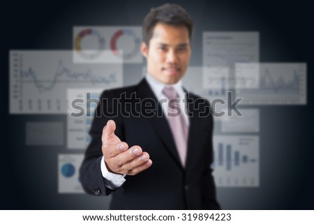 Investors with reported profits. - stock photo