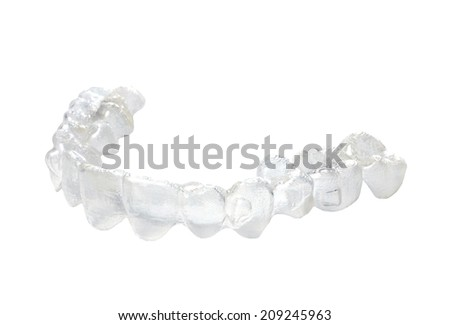 Invisible braces on a white background  - stock photo