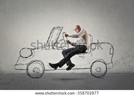 Invisible car - stock photo