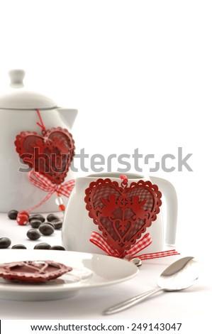 Invitation to the Valentine's Day - stock photo