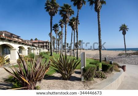 Inviting freshness of breezy ocean Mandalay beach, Oxnard, California - stock photo