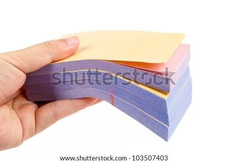 Invoice book - stock photo