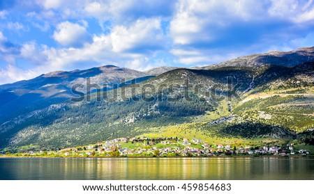 Ioannina Greece city in the Epir (Epirus) region - stock photo