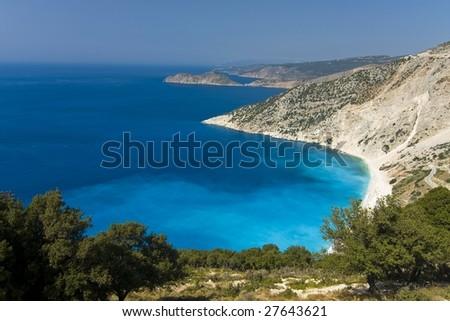 Ionian sea coast - stock photo