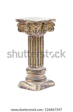 Ionic column on a white background - stock photo