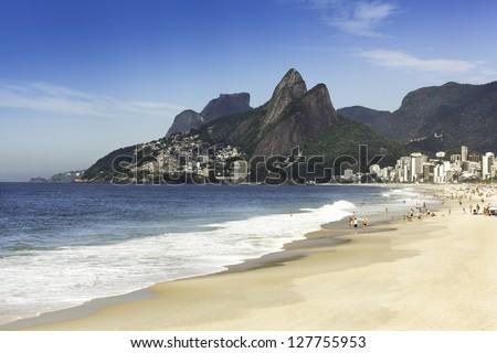 Ipanema Beach in the morning - stock photo
