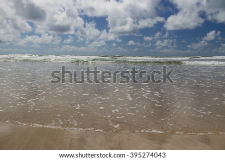Ipojuca beach - Porto de Galinhas - Pernambuco, Brazil (March 18, 2016) - stock photo