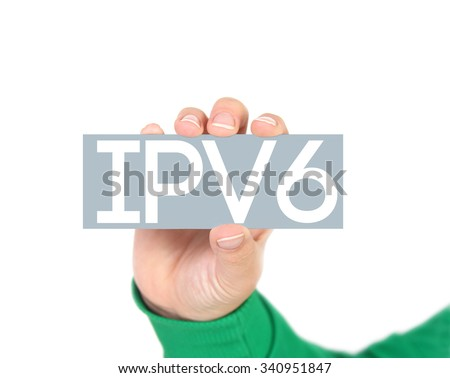 ipv6 network concept - stock photo