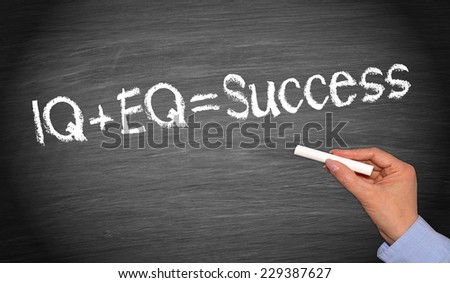 IQ plus EQ = Success - stock photo