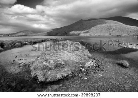 IR photo capture of a breathtaking natural nature landscape - stock photo