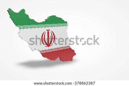 Iran flag 3d perspective view isolated - stock photo