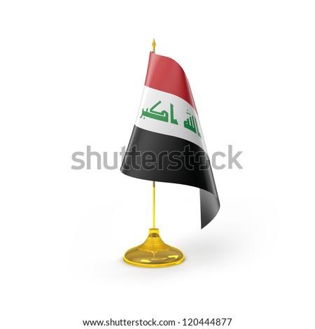 Iraq Flag Detail Render - stock photo