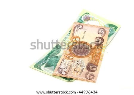 Iraq money - stock photo