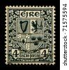 IRELAND-CIRCA 1960:A stamp printed in Ireland shows image of the Irish coat of arms, circa 1960. - stock photo
