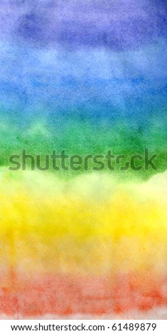 Iridescent background. Water color painting. A basis for design - stock photo
