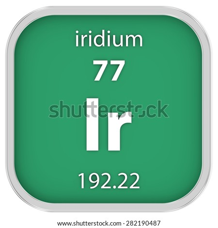 Iridium material on the periodic table. Part of a series. - stock photo