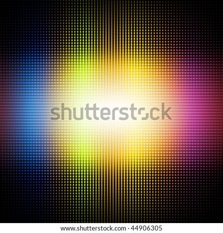 Iris dot -Computational graphic background - stock photo