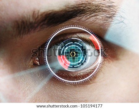 iris scan - stock photo