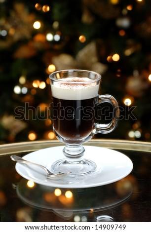 irish cream coffee - stock photo