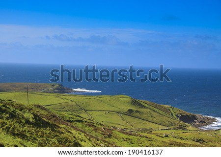 Irish landscape, seaside  in Ireland, co. Donegal - stock photo