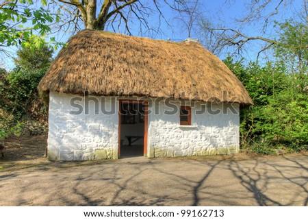 Irish traditional House in Bunratty Folk Park - Ireland. - stock photo