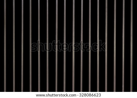 Iron baluster or steel Cage isolate on background - stock photo