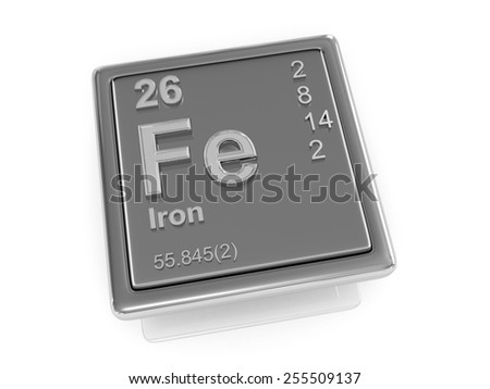 Iron. Chemical element. 3d - stock photo