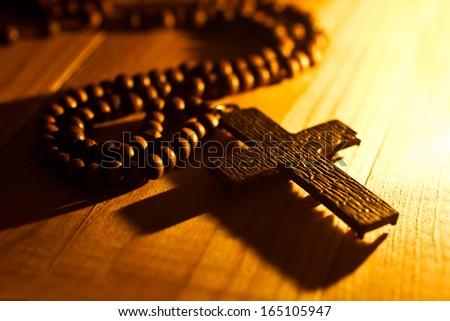 Iron Cross closeup in dark colors - stock photo