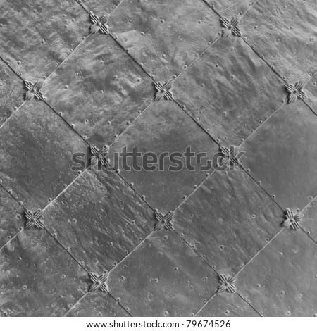 iron door texture - stock photo