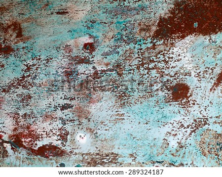 Iron metal surface rust great background and texture image - stock photo