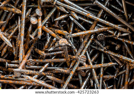 iron nails - stock photo