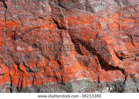 Iron ore texture closeup - stock photo