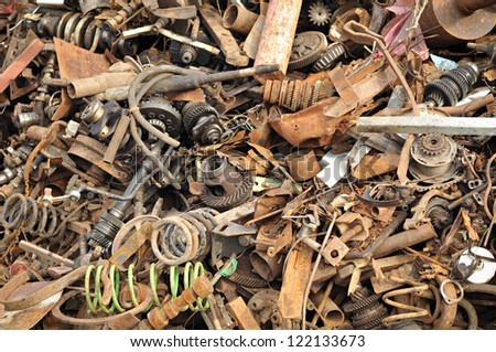 Iron scrap - stock photo