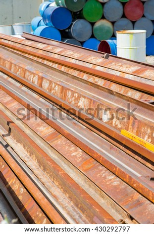 iron scrap material - stock photo