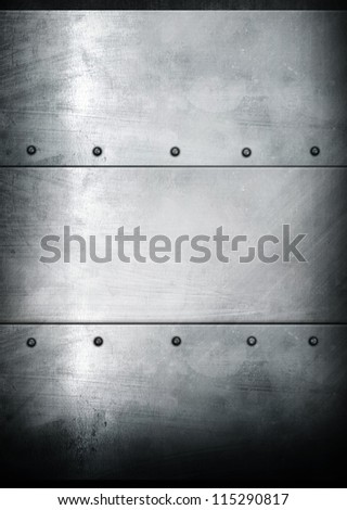 iron template background - stock photo