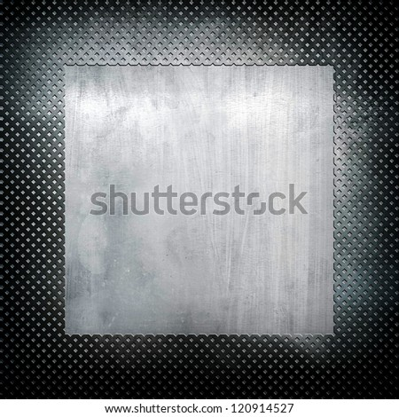 iron template background - stock photo
