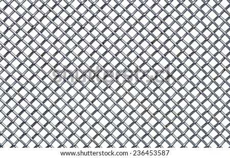 iron wire fence - stock photo