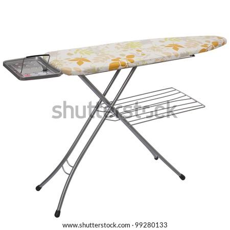 ironing tool on white background - stock photo