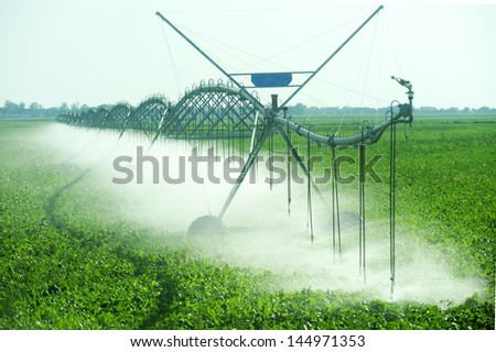 irrigation - stock photo