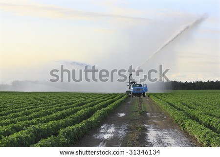 Irrigation of farmland to ensure the quality of the crop 