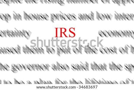 IRS - stock photo