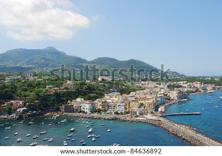Ischia island, south of  Italy - stock photo